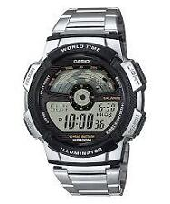 CASIO AE-1100WD-1A SILVER STAINLESS WATCH FOR MEN - COD + FREE SHIPPING