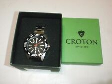 Croton Aquamatic Dive Watch CA301300SSBK 10ATM/330FT Water Resistant