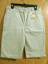 NWT Boy's Levi's 511 Plaza Taupe, Khaki,Tan Slim Shorts knee length size 18 Reg