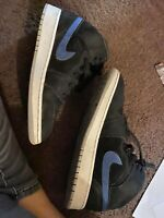 Nike Air Jordan 1 Mid GS Black Red Blue [554725-065] Youth Size 5.5/ Women 7