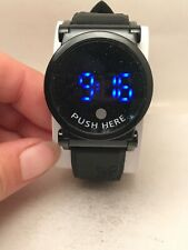 WOMEN'S ACTWC TOUCH LED DIGITAL WATCH BLACK RUBBER BAND 17883-H64