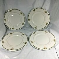 "LOT 4 PALM TREE DESSERT PLATES GIBSON CHINA 6 1/4"" FINE EUC FREE SHIPPING VTG"