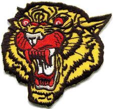 Tiger cat puma jaguar lion cheetah animal wildlife applique iron-on patch S-1123