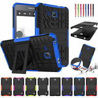 """For Samsung Galaxy Tab A 7"""" SM-T280 Rugged Hybrid Rubber Armor Case Stand Cover"""
