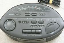 Sony Dream Machine Alarm Clock Radio Black Tape Deck IC- CS660 Mega Bass AM/FM