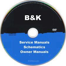B&K Audio Hifi Service Manuals & Schematics- PDFs on DVD - Huge Collection