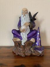 Wizard Merlin Purple Ceramic Figure Large