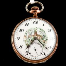 Dial Pocket Watch Antique Junghans 52 Painted