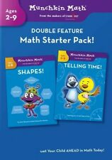 Munchkin Math - Double Feature: Shapes & Telling Time Ages 2-9 (Dvd) Mew