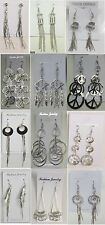 US-SELLER Wholesale lot 12 pairs Fashion Dangle Silver Plated  Earrings SU-1