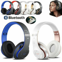 Wireless Headphones Bluetooth Headset Noise Cancelling Over Microphone Ear T1Y5