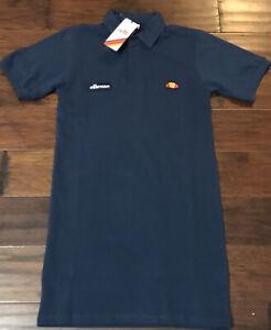 Ellesse Mandel Women's Pique Polo Shirt Tennis Dress Sz. S NEW SGA07766412 NAVY