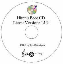 Hiren's Boot CD 15.2 Test Diagnose Repair Restore Laptop PC Windows 7 8 XP Vista