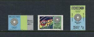 D534 Mexico 1972 Munich Olympics 3v. MNH