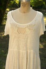 NWT Free People Size S/Mjr. Embroidered Butterfly Bells Soft Tunic $78.00