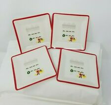 """4 MARTHA STEWART COLLECTION Holiday in the City CHRISTMAS Appetizer Plates 5"""""""