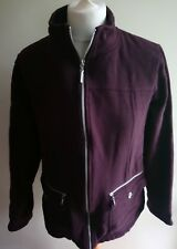 MAINE Womens Brown Casual Cotton Blend Zip Up Cardigan Jacket Size 18 BB