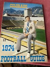 1974 University of Colorado Buffaloes Football Yearbook Folsom Field NCAA
