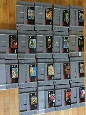 SNES Games Lot 18 Super Nintendo Mario Fzero Starfox Speedy Gonzalez Bubsy Road