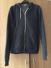 American Apparel Grey Zip Hoodie Size M