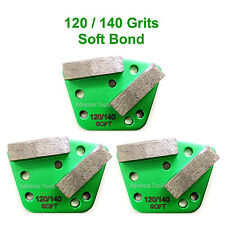 3PK Trapezoid HTC Style Grinding Shoe / Disc / Plate - Soft Bond - 120/140 Grit