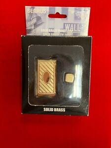 BENRUS Solid Brass Wall Street Money Clip ~