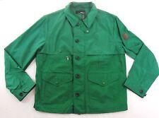 $495 RLX Ralph Lauren Polo Leather Patch Windbreaker Button Down Safari Jacket L