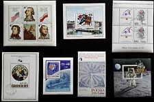 Polen- Lot mit 7 Briefmarkenblocks 1973-1989, teils gestempelt