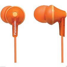 NEW Panasonic RP-HJE125-D Stereo In Ear Canal Bud Ergofit Headphones Orange