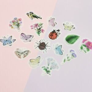 Insect Stickers,Ladybird,Butterfly Stickers,Flower Stickers,Bouquet Stickers