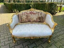 Antique French Louis XV Style Sofa/Marquise/Loveseat.