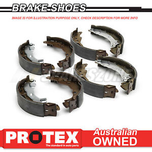 Front + Rear Protex Brake Shoes For NISSAN Patrol G60 1962-80