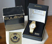1980 Bulova ACCUTRON QUARTZ Swiss Cal. 2803.10 wristwatch GM ELITE SALESMAN CLUB