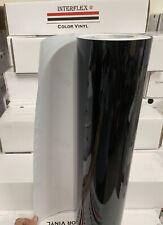 1 Roll Black Glossy Vinyl 12 X 50 Yards150 Feet Plotter Cutter Interflex