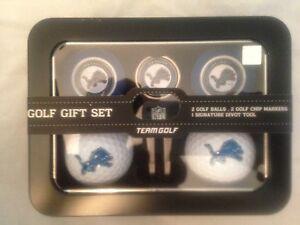 Detroit Lions NEW Ball and Chip Marker Golf Gift Set . NFL Football Present Fan