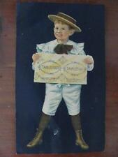 Antique Rare O&W Thum Tanglefoot Double Sheet Sticky Flypaper 1890s Trade Card