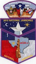2013 Boy Scout Jamboree Buffalo Trail Council Patch Set JSP OA Tatanka Lodge 141