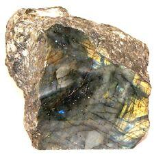 "Labradorite Large Polished and Raw Display Crystal 6.5"" Size 3,715 Grams"