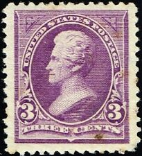 Us Sc # 253 *Mint Og H* { Jumbo -Xf- Centered } Beauty 3c Purple Jackson Of 1894