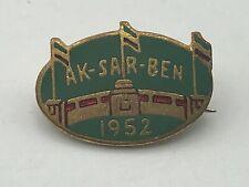 1952 Vintage AK-SAR-BEN Horse Racing Race Track Lapel Pin Nebraska  D2