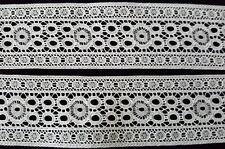 Antike unbenutzte Weiß Wäsche Spitze 100% reine Baumwolle 55mm  Weiß um 1930