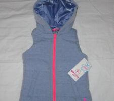 Girls Size 4-5 XS 90 Degree by Reflex Full Zip Hoodie Puffy Vest Blue NWT