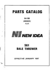 New Idea Parts Catalog 561 Bale Thrower