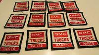 12 1970's-1980's GMC Trucks Parts & Service uniform hat vintage patch LOT of 12