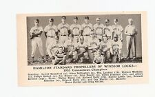 Hamilton Standard Windsor Locks Connecticut 1953 Baseball Team Picture