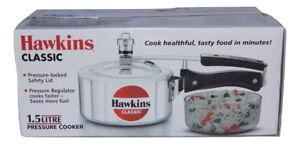 Hawkins Classic 1.5 Litre Aluminium Pressure Cooker, CL15