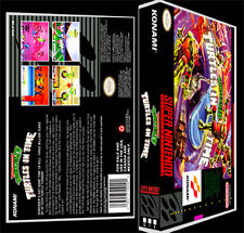 Turtles 4 Turtles in Time - SNES Reproduction Art Case/Box No Game.