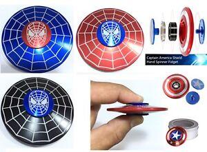 Spider Fidget Finger Spinner Hand Focus Spin Steel EDC Bearing Stress Toys UK*
