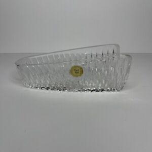 Vintage Princess House Lead Crystal Knife Holder Utensil #839 Glass