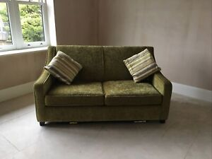 Dfs Lime Green Double Bed Sofa - Excellent Condition - 150 Cm Wide - Collection